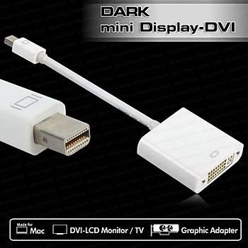 Dark DK-HD-AMDPXDVI mini DISPLAY PORT to DVI-D 24+5 Erkek-Diþi Dönüþtürücü Beyaz Adaptör
