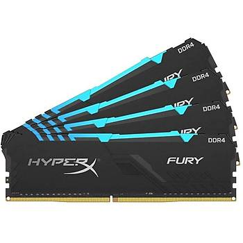 Kingston HX436C18FB3AK4/128 128 GB (4x32) DDR4 3600Mhz CL18 RGB HyperX Fury Bilgisayar Bellek