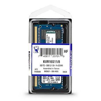 Kingston KVR16S11/8 8 GB DDR3 1600MHZ CL11 Sr Notebook Bellek