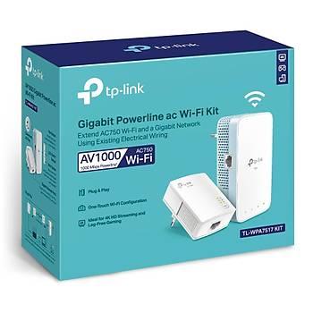 Tp-Link TL-WPA7517 KIT AV1000 1 Port Gigabit 2.4/5Ghz Dual Bant Dahili Antenli Menzil Geniþletici
