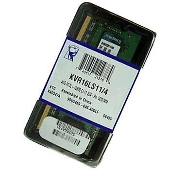 Kingston KVR16LS11/4 4 GB DDR3L 1600MHZ LV CL11 Notebook Bellek