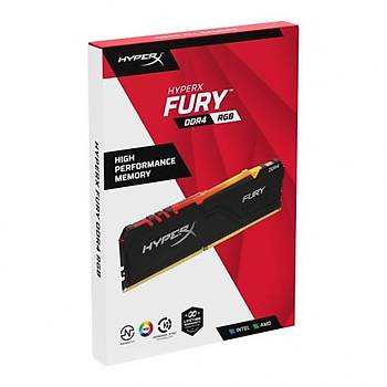 Kingston HX434C17FB3AK4/128 128 GB (4x32) DDR4 3466Mhz CL15 RGB HyperX Fury Bilgisayar Bellek