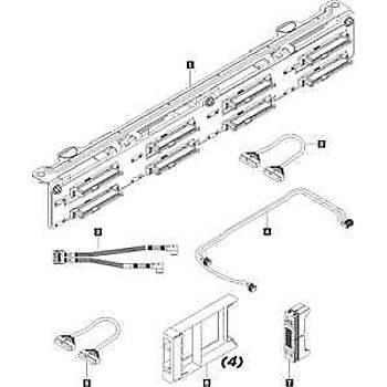 Lenovo 7XH7A05896 ThinkSystem SR530 SR630 2.5 inch SATA-SAS 8-Bay Kit