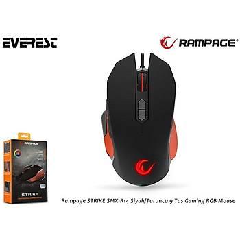 Rampage SMX-R14 Siyah/Turuncu Strýke 9 Tuþlu Oyuncu Mouse
