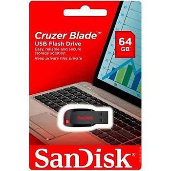 Sandisk SDCZ50-064G-B35 64 GB Cruzer Blade USB 2.0 Flash Bellek