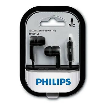 Philips SHE1405BK/00 Kulak Ýçi Kablolu Mikrofonlu Siyah Kulaklýk