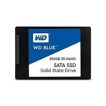 Western Digital WDS250G2B0A 250 GB 550/525Mb/s 2.5 inch SATA 3D NAND Blue SSD Harddisk