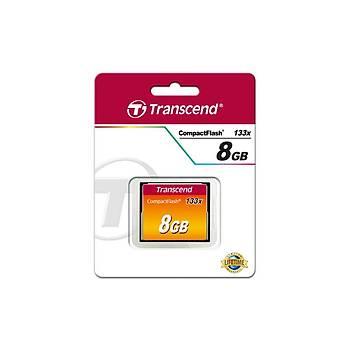 Transcend TS8GCF133 8 GB CF133 133X 50/20Mb/s CompactFlash Hafýza Kartý