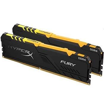 Kingston HX437C19FB3AK2/32 32 GB (2x16) DDR4 3733 CL19 RGB HyperX Fury Bilgisayar Bellek