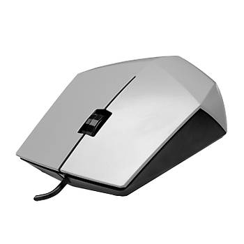 Everest SM-201 USB 1200Dpi 3 Tuþlu Kablolu Optik Gümüþ Mouse