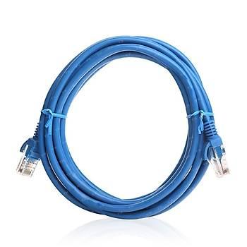 Tx TX-CB-NT5U200BU 2 Mt CAT5E Cca Solid UTP Mavi Patch Cord Kablo