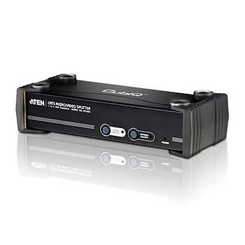 Aten VS1504T 150 - 450 Mt 1 Giriþ 1 Çýkýþ VGA RJ45 Audio RS232 to CAT VGA Çoklayýcý Splitter