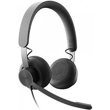 Logitech 981-000875 Zone Wired Stereo Kafa Bantlý Uc Kablolu Mikrofonlu Kulaklýk
