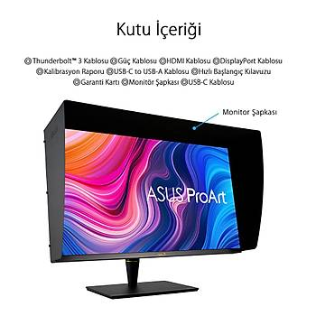 Asus ProArt PA32UCX-PK 32 inch 3840x2160 5ms 4K MM HDMI DP Thunderbolt HDR Dolby Monitör