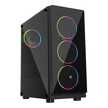 Frisby FC-9355G 600W 4x12cm RGB Led Fanlý Mid Tower Oyuncu Kasasý