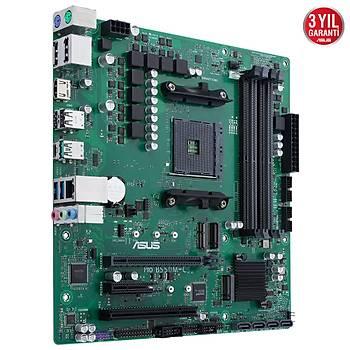 Asus PRO B550M-C/CSM Sc-AM4 B550 DDR4 4800MHZ 2xM2 ATX Intel Anakart