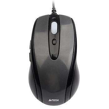 A4 Tech N-708X 1600 Dpi 6 Tuþlu V-TRack Kablolu Gümüþ Optik Mouse