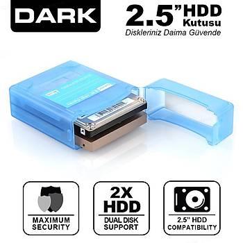 Dark DK-AC-DAK2B 2 x 2.5 inch Mavi Disk Korumalý Disk Taþýma Kutusu