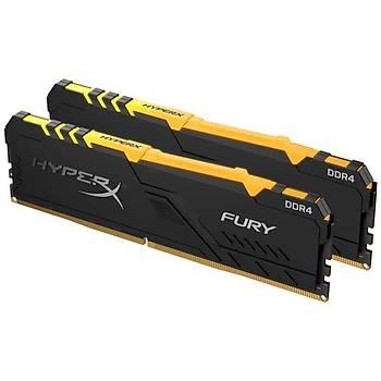 Kingston HX426C16FB3AK2/16 16 GB (2x8) DDR4 2666MHZ CL16 RGB Hyperx Fury Bilgisayar Bellek