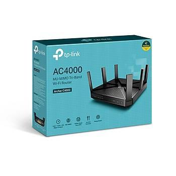 Tp-Link Archer C4000 Tree Bant 2.4/5Ghz 4 Port Gigabit 6 Antenli Router Access Point