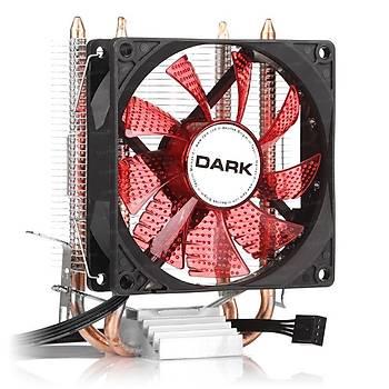 Dark DKCCX92RD Freezer X92 Intel/Amd 12 cm Kýrmýzý Led Fanlý Ýþlemci Soðutucusu