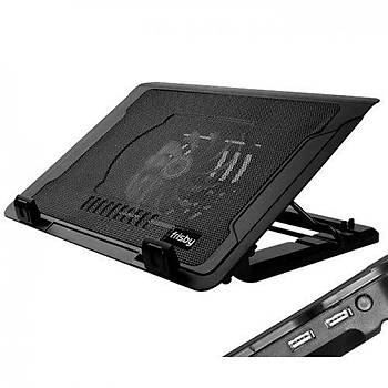 Frisby FNC-35P 1x14cm LED Fanlý Yükseklik Ayarlý 2 USB Port Siyah Notebook Soðutucusu