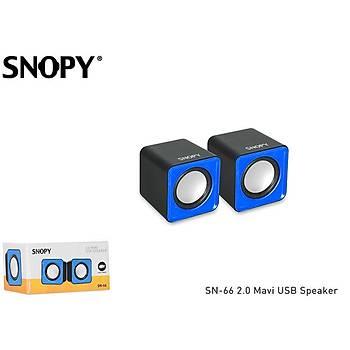 Snopy SN-66 1+1 3W Siyah/Mavi 2.0 Usb Hoparlör