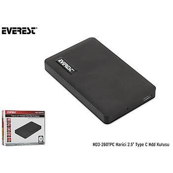 Everest HD3-260Tpc 2.5 Ýnch Type C Harici Hdd Kutusu