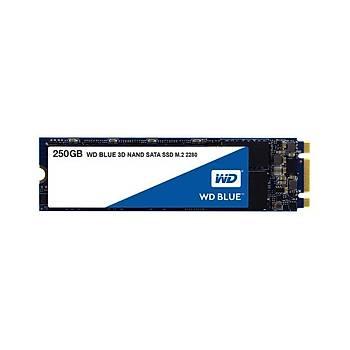 Western Digital WDS250G2B0B 256 GB 550/525Mb/S 22x80 M2 3D NAND Blue SSD Harddisk
