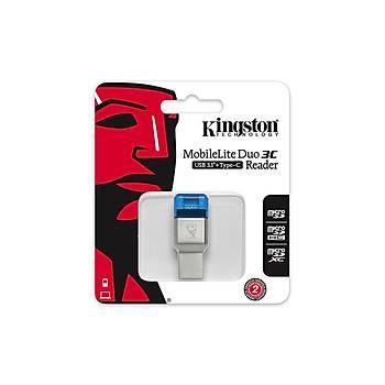 Kingston FCR-ML3C Mobilelite Duo 3C USB 3.1 Type C Kart Okuyucu