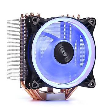 Dark DKCCX124B Freezer X124 Intel/Amd 12 cm Mavi Led Fanlý Ýþlemci Soðutucusu