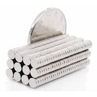 4x1,5 mm Yuvarlak Güçlü Neodyum Mýknatýs (Çap 4mm Kalýnlýk 1,5mm)