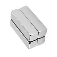 40x10x10 mm Dikdörtgen Neodyum Mýknatýs Boy 40mm En 10mm Kalýnlýk 10mm