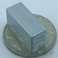 20x8x1 mm Dikdörtgen Neodyum Mýknatýs Boy 20mm En 8mm Kalýnlýk 1mm