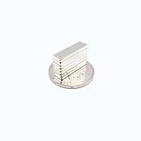 20x6x2 mm Dikdörtgen Neodyum Mýknatýs Boy 20mm En 6mm Kalýnlýk 2mm