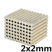 2x2 mm Yuvarlak Güçlü Neodyum Mýknatýs (Çap 2 mm Kalýnlýk 2 mm)