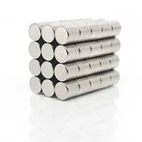 10x10 mm Yuvarlak Güçlü Neodyum Mýknatýs (Çap 10mm Kalýnlýk 10mm)