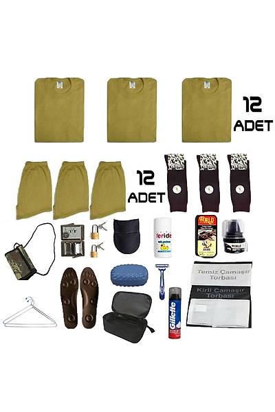 12'li Temel Jandarma Acemi Asker Paketi: Bedelli Acemi Askeri Malzeme Seti