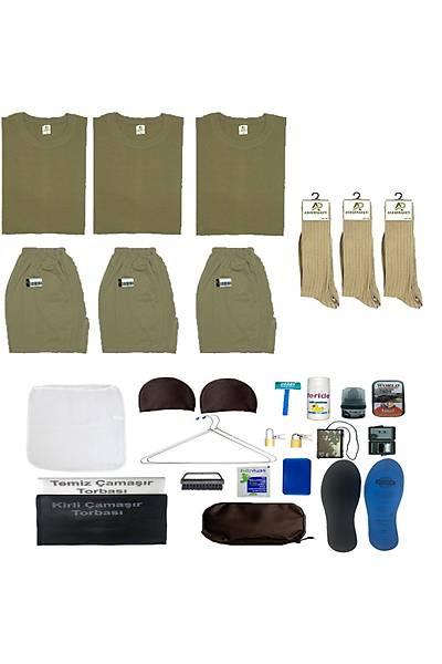 3lü Temel Asker Seti: Bedelli/Acemi Yazlýk Askeri Malzeme Paketi