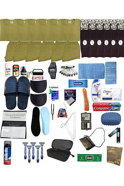6'lý Lüx Jandarma - Denizci Paketi Askeri Malzeme Seti: Bedelli-Acemi Asker Malzemeleri