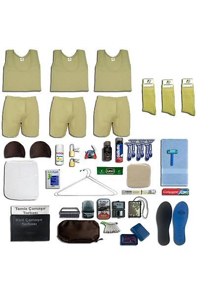 3'lü Yazlýk Askýlý Tavsiye Asker Paketi; Bedelli - Acemi Askeri Malzeme Seti