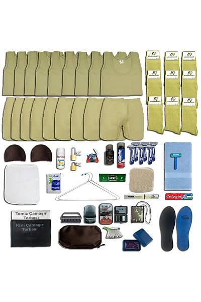 9'lu Yazlýk Askýlý Tavsiye Asker Paketi; Bedelli - Acemi Askeri Malzeme Seti