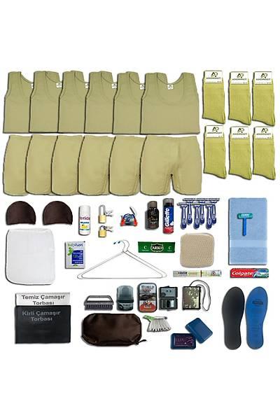 6'lý Yazlýk Askýlý Tavsiye Asker Paketi; Bedelli - Acemi Askeri Malzeme Seti