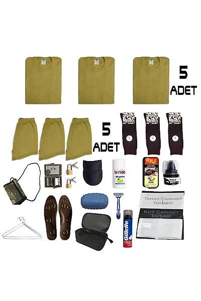 5'li Temel Jandarma - Denizci - Bedelli Asker Paketi: Askeri Malzeme Seti