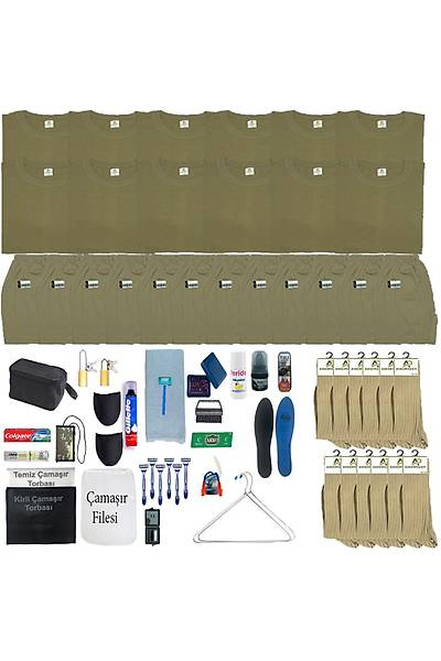 12'li Tavsiye Asker Seti: Bedelli Acemi Yazlýk Askeri Malzeme Paketi