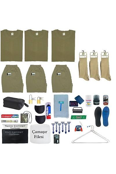 3'lü Tavsiye Asker Seti: Bedelli Acemi Yazlýk Askeri Malzeme Paketi