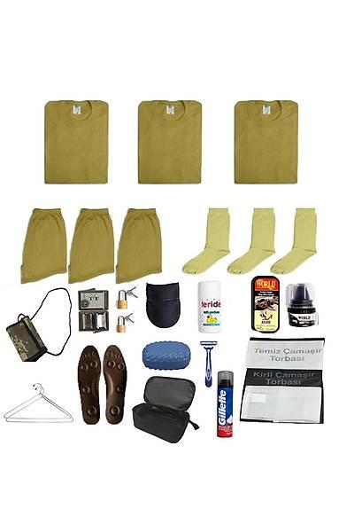 3'lü Temel Askeri Malzeme Paketi Bedelli Acemi Asker Seti