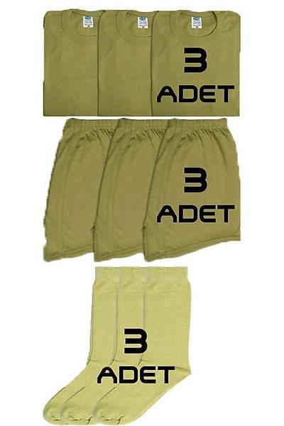 3'lü Asker Çamaþýr Paketi
