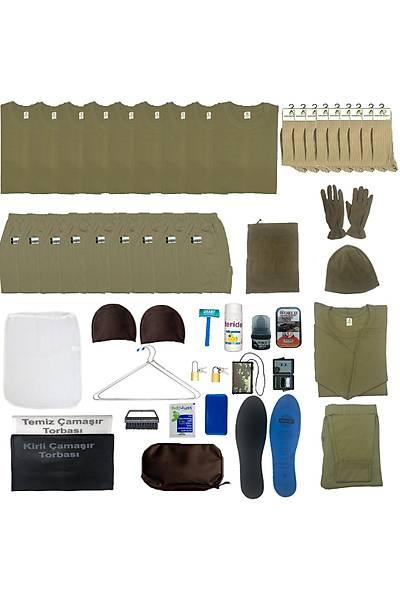 9'lu Temel Asker Paketi: Bedelli - Acemi Asker Seti Askeri Malzeme