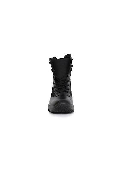 Vogel M1479 Siyah Renk Fermuarlý Deri Asker Polis Dört Mevsim Botu